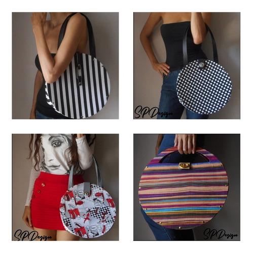 carteras para damas redondas estilo vintage.leer descripción