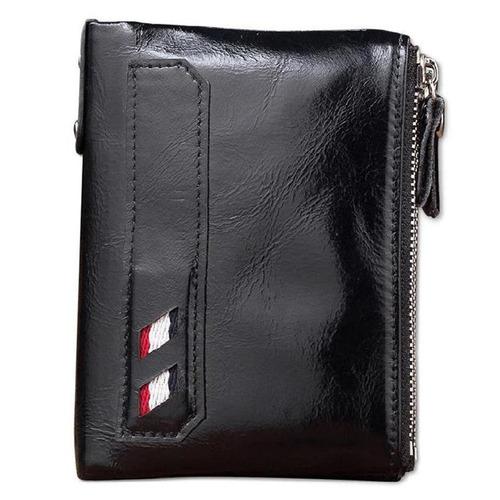 carteras para hombres bifold de cuero genuino estilo vintage