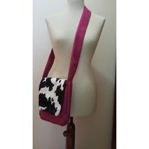 Messenger Bags / Bolsos Bandoleros Con Estampado De Vaca