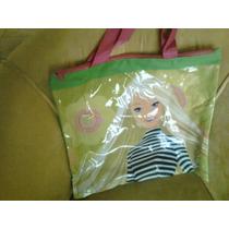 Bolso De Barbie En Plástico Y Lona Verde Ideal Playa-piscina
