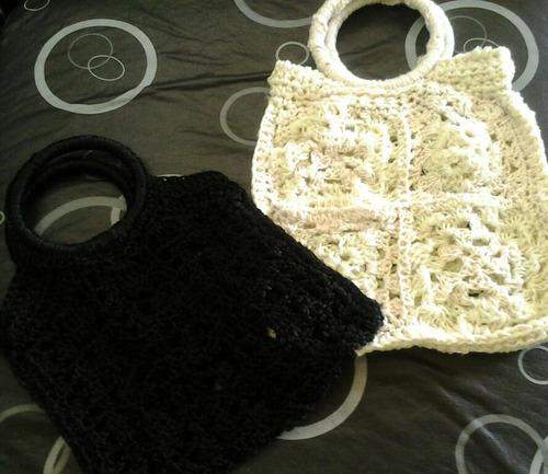 carteras/bolsa de mano tejidas crochet