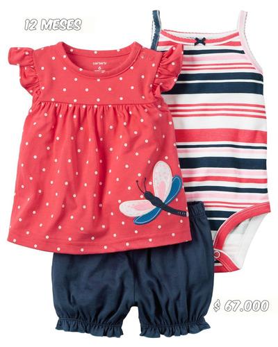 carters - conjunto 3 piezas niña - 12 meses
