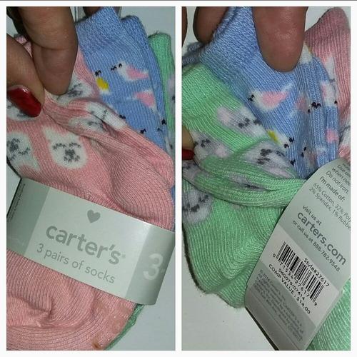 carters pack x3 medias niña y niño