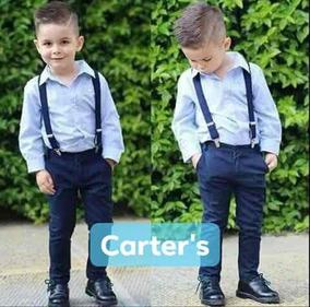 8ab81f1d6 Carter s Pantalon Jeans Tiradores Cuero Camisa Conjunto Niño. Buenos Aires