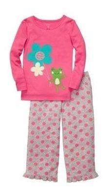 carters - pijama micropolar algodon - ranita rosa