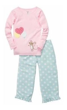 carters - pijama micropolar algodon - ratoncita rosa
