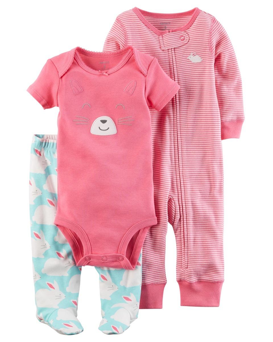 Carters Ropa Bebe Nena Conjunto 3 Piezas Rn 7e8a04b2d15f