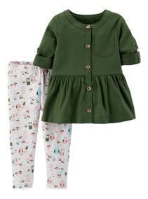 90ee3346b Carters Set 2 Piezas Camisa Y Calzas Búho Bebé Nenas