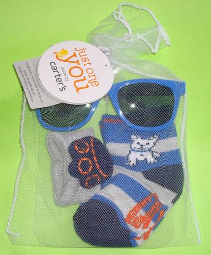 carter´s set de lentes, calcetines y sonaja para bebe