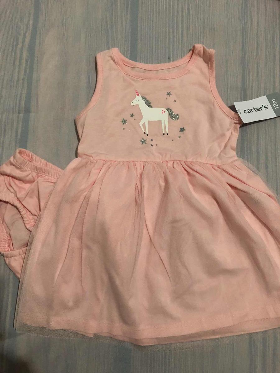 Carters Vestido Unicornios 12meses Novo R 99 00 Em Mercado Livre