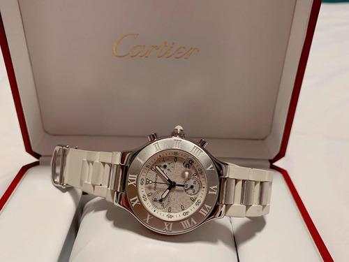 cartier 21 chronoscaph branco , preço imbatível !