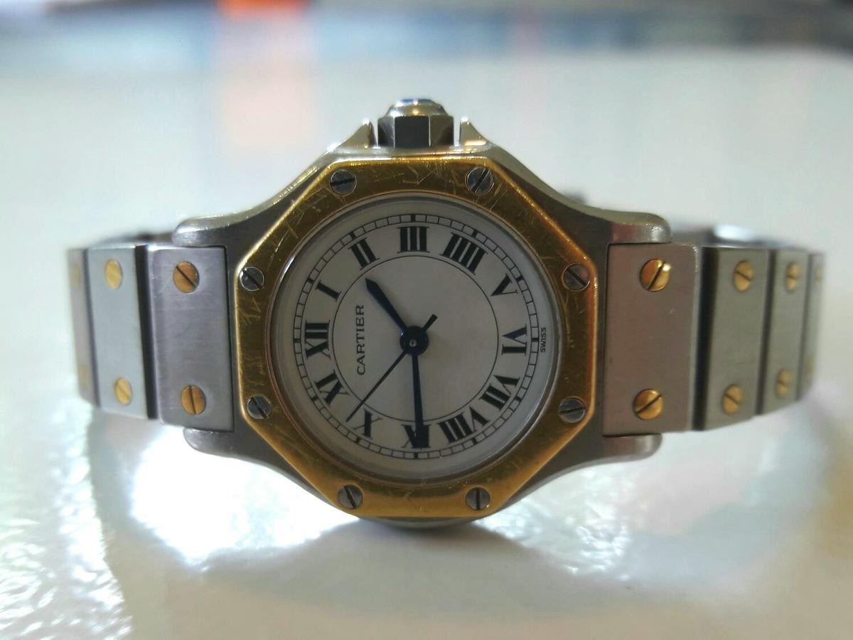 c4359de787f Relógio Cartier Santos Ronde (oitavado) Automático Feminino - R ...