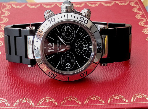 cartier pasha seatimer chronograph 42,5mm , completo!