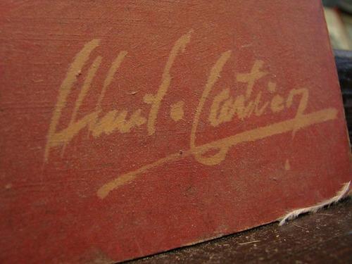 cartier / payaso / oleo firmado / 50 x 40 cm # 1435