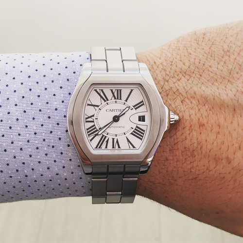 299c7cd6183 Cartier Roadster S Large Full Steel Automatic Impecável - R  13.900 ...