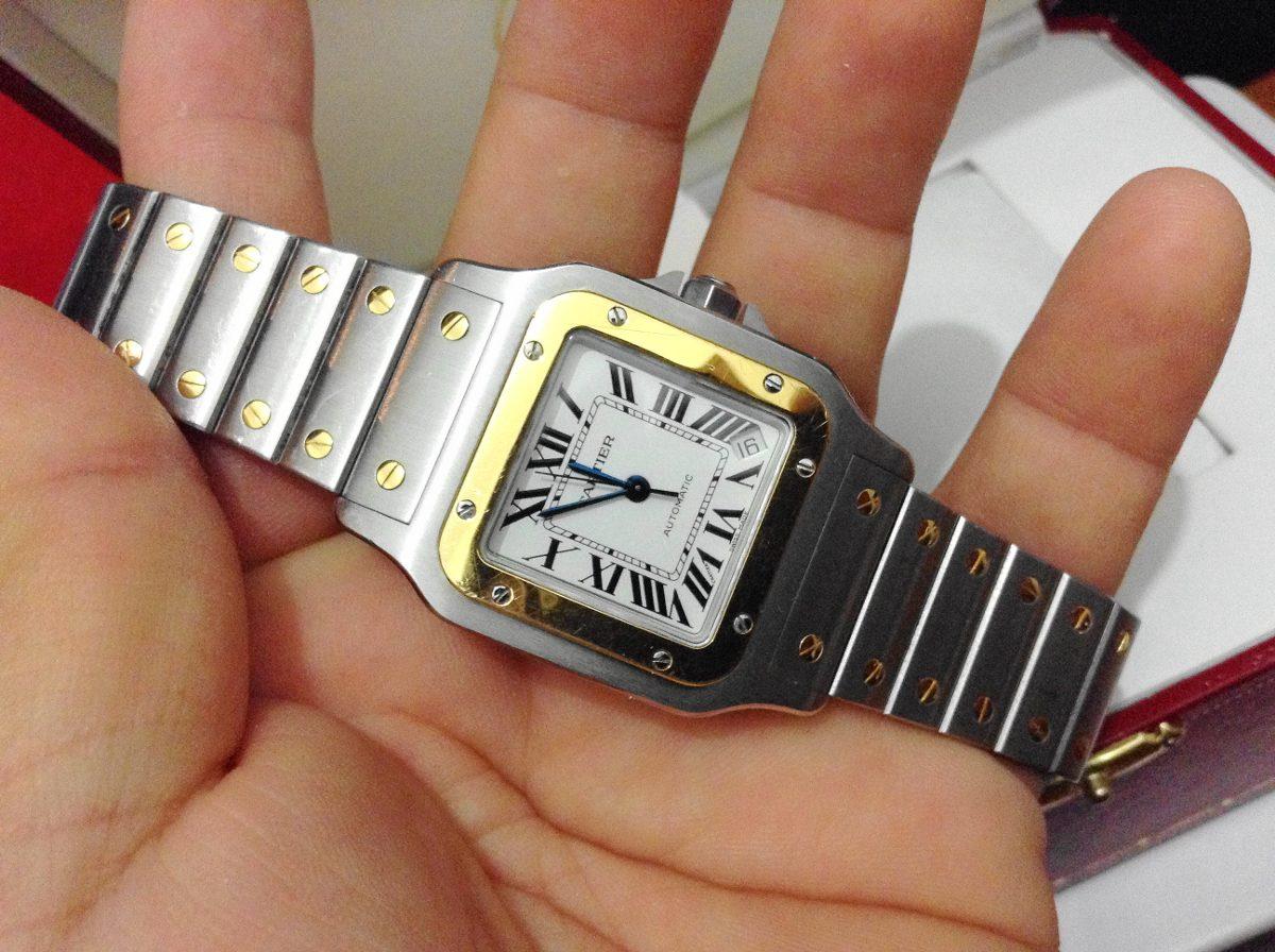 cartier santos galbee xl acero oro automatico 100% original. Cargando zoom. d86b0b5dce9ec