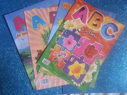 cartilla escolares de abc, numeros y letras precio x 4 unids