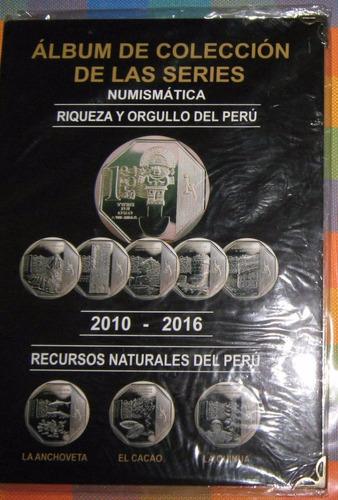 cartillas completa de la serie numismática-riqueza y orgullo