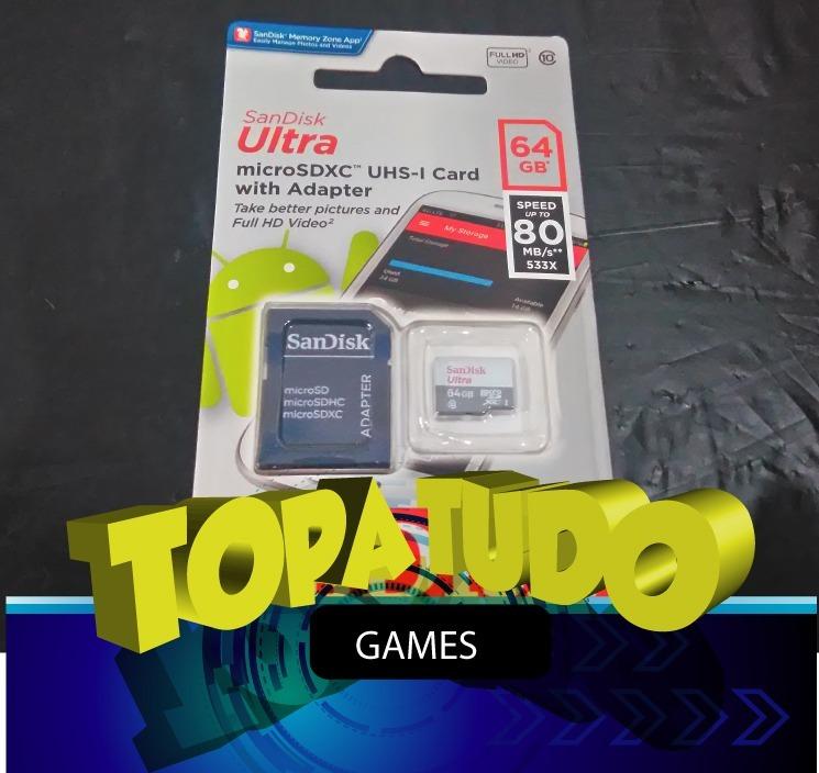 Cartão 64gb Sx Pro Com Jogos Xci N  Switch Desbloqueado