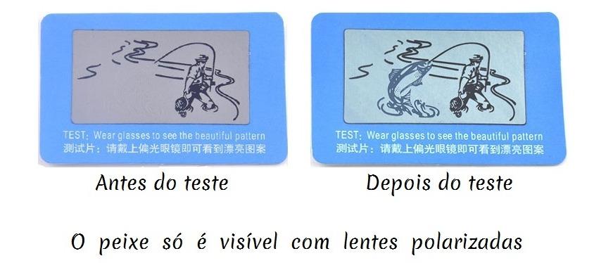 04661fe5b9e49 cartão azul teste óculos polarizado e lentes polarizadas. Carregando zoom.