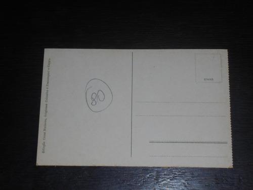 cartão bilhete postal santos guarujá grande hotel la plage