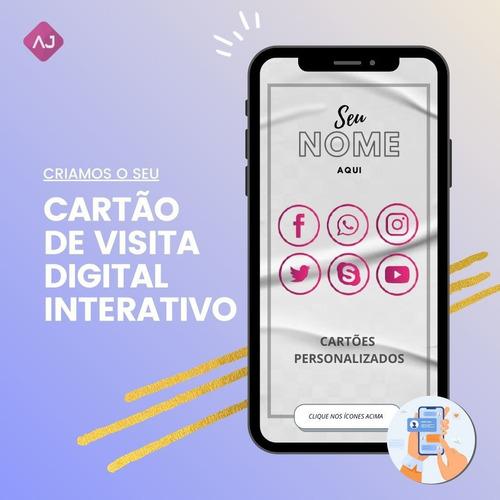 cartão cartão de visita digital interativo