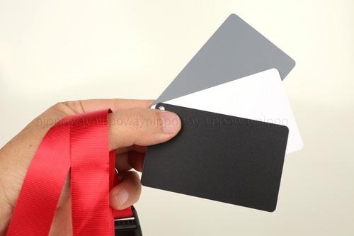 cartão cinza 18 balanço de branco 3 em 1 fotografia