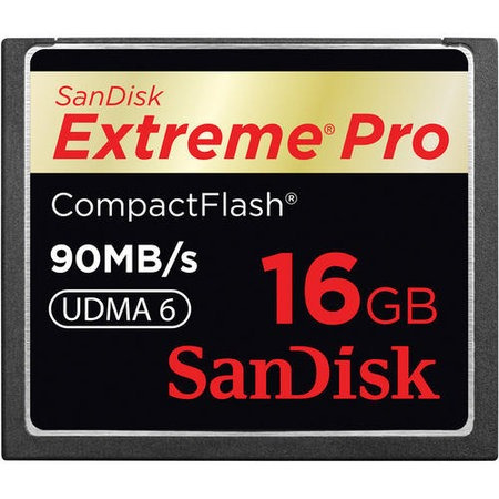 cartão compact flash 16gb sandisk extreme pro 90mb/s (600x)