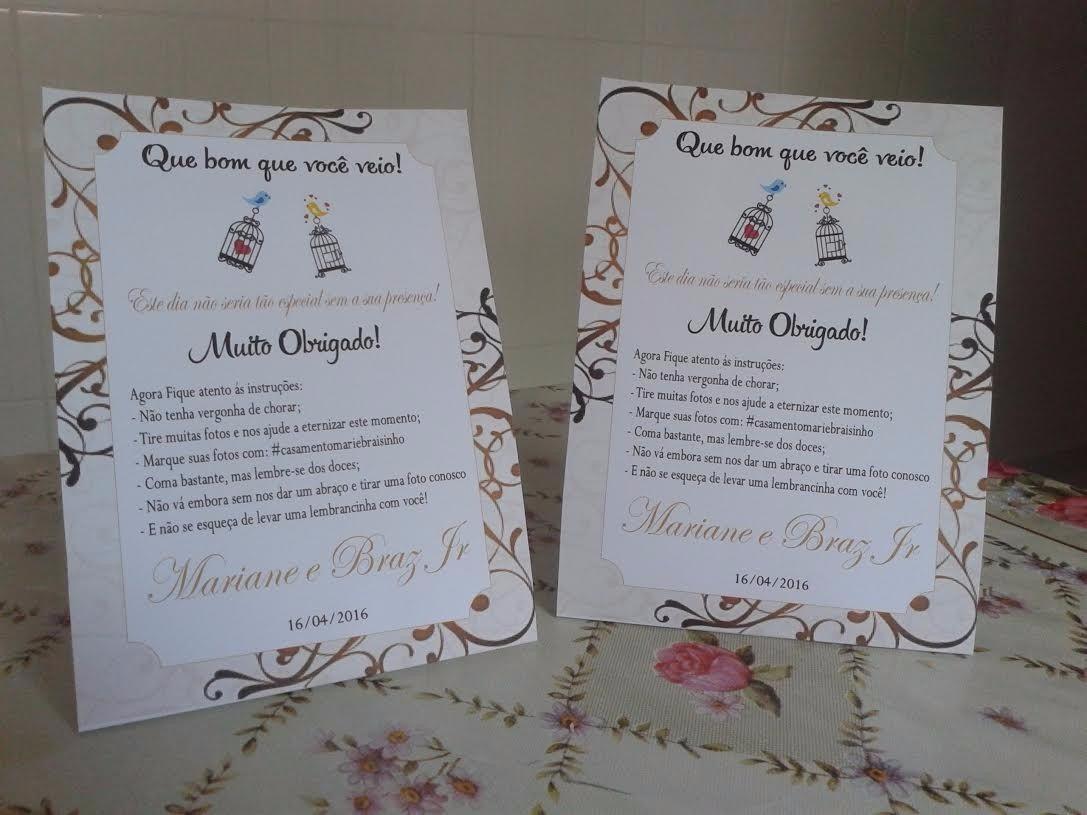 Cartões De Casamento: Cartão De Agradecimento Casamento: 20 Unid. Por 38,00