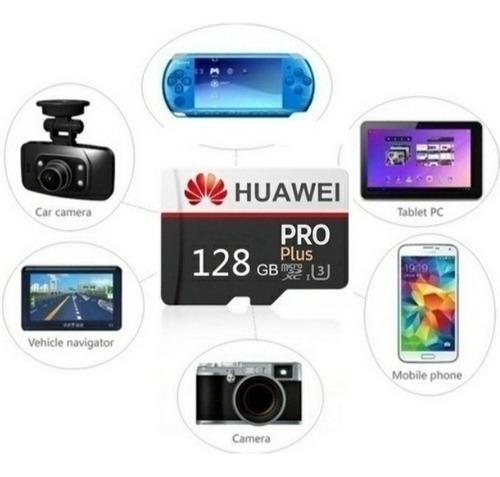 cartão de memória 128gb u3 huawei pro plus + adaptador