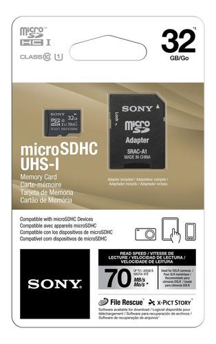 cartão de memória 32gb com adaptador sra-a1c1032gb sony