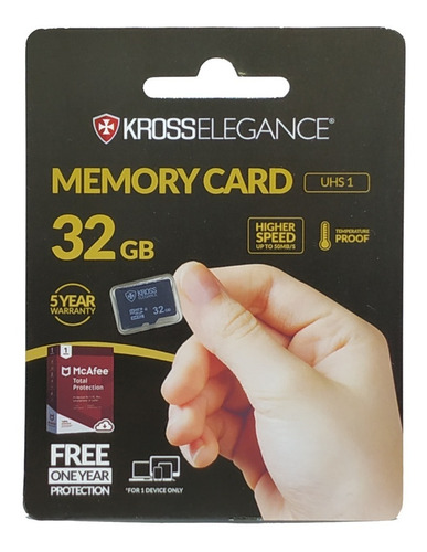 cartão de memória 32gb micro sd kross elegance ke-mc32gbu1