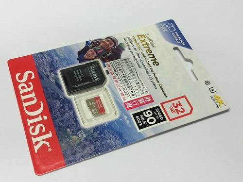 cartão de memória 32gb micro sd sdhc sandisk extreme 4k