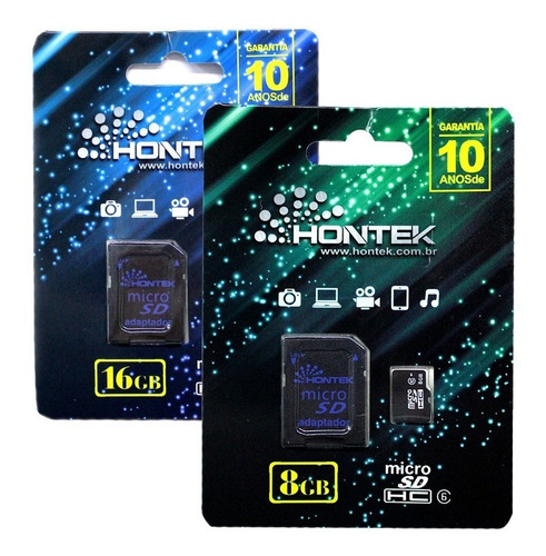 cartão de memória 8 gb classe 10 hontek original micro sd