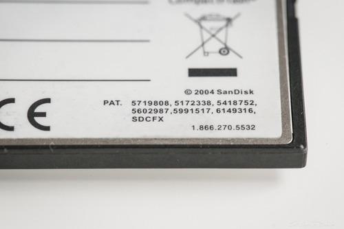 cartão de memória cf- scandisk 4 gb (extreme iv)