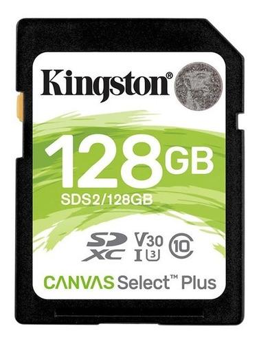 cartão de memória classe 10 kingston 128gb 100r/85w uhs-i