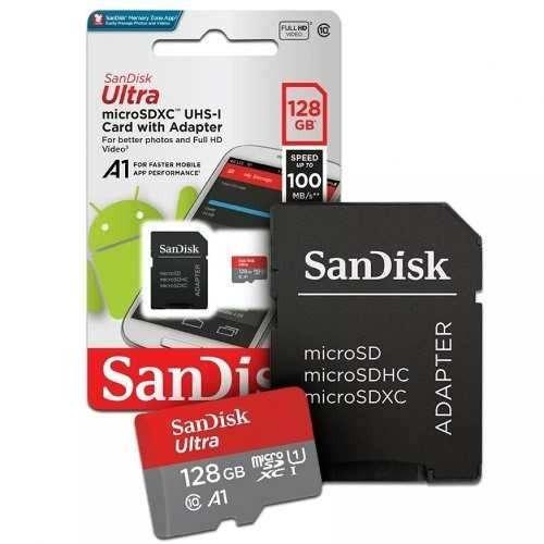 cartão de memoria classe 10 ultra 128gb original sandisk