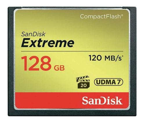 cartão de memória compactflash cf sandisk 128gb extreme