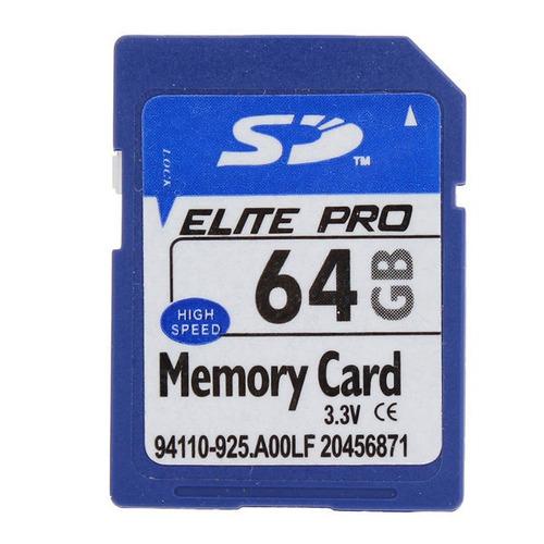 cartão de memória elite pro sd card 64gb para câmera mp4 pc