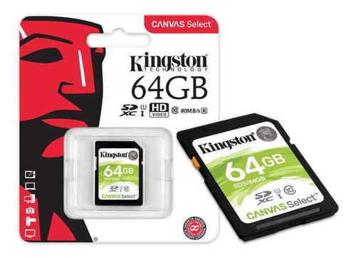 cartão de memória kingston  64 gb