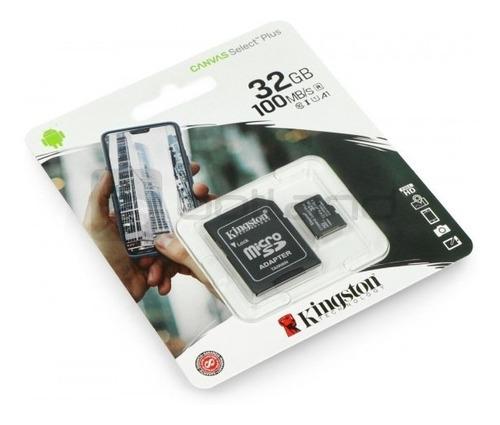cartão de memória kingston canvas select plus 32gb 100mb/s
