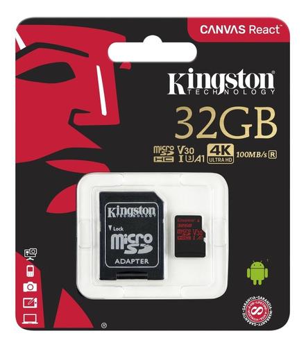 cartão de memoria kingston classe 10 sdcr 32gb micro sdhc 32