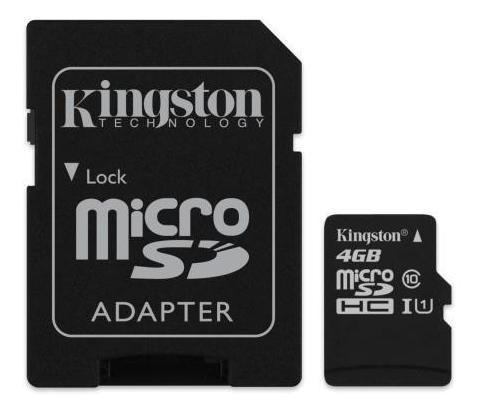 cartão de memória kingston micro sd sdc10 4gb classe 10 co