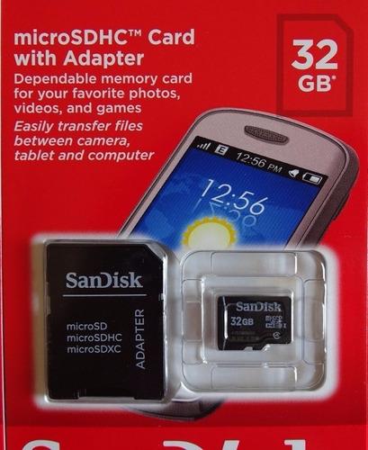 cartão de memória micro sd 32gb com adaptador