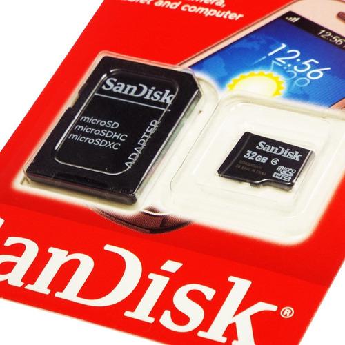 cartão de memória micro sd 32gb sandisk lacrado c/ adaptador