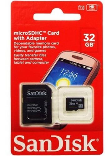 cartão de memoria micro sd 32gb sandisk original e lacrado