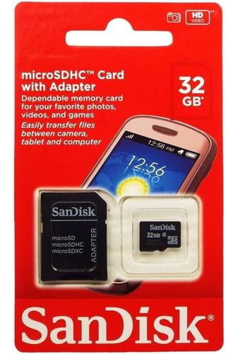 cartão de memória micro sd 32gb sandisk sdsdqm-032g preto