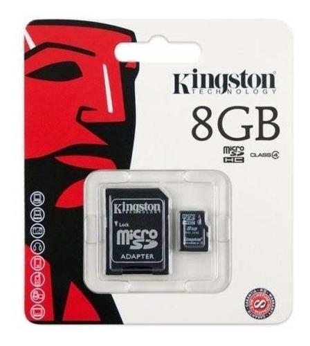 cartão de memoria micro sd kingston 8gb 2x1
