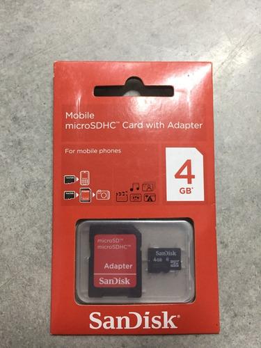 cartão de memória micro sd sandisk 4gb