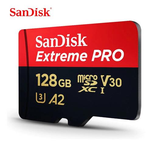 cartão de memória micro sd sandisk extreme pro 128gb 170mb/s